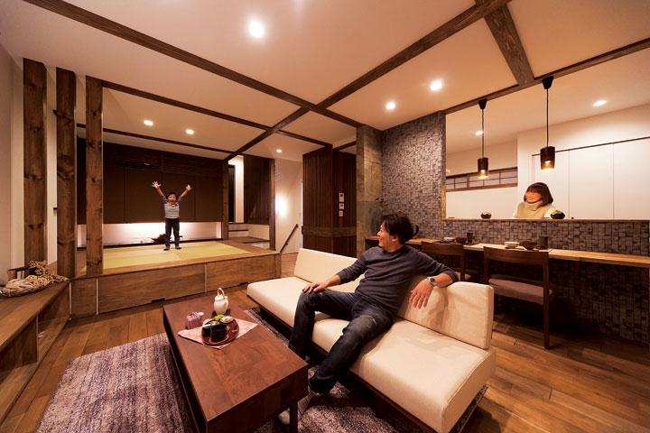 異素材の融合が創り出した和洋折衷のデザインハウス